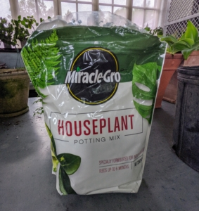 We're using Miracle-Gro Houseplant Potting Mix available on my new e-commerce site at Martha.com - I hope you've had the time to see all the great products on this new site - we're adding more every day!