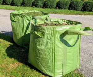 All the cuttings are placed into my Martha Stewart Multi-Purpose Heavy-Duty Garden Tote Bags. We use these bags all over the farm. Each tote can hold more than 900-pounds! Find them at my shop on Amazon.