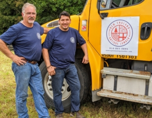 Ken and Mauricio drove the lumber from Pennsylvania where Mauricio's larger saw mill is located.