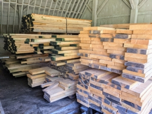 This wood will be saved for future building projects here at the farm. I am so glad I am able to reuse, recycle and repurpose these valuable natural resources.