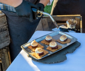And for everyone's sweet tooth, S'mores, a favorite campfire treat consisting of toasted marshmallows and a layer of chocolate on graham cracker. (Photo by David Hechler for Stone Barns Center for Food & Agriculture)
