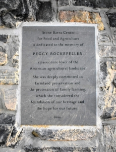 After his wife, Peggy, died in 1996, it was David Rockefeller's wish to turn the property into a center dedicated to sustainable agriculture, a cause Peggy had embraced throughout her life. The Center was established as a non-profit organization in 2004.