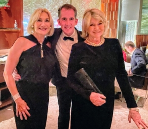 As we were leaving, we took more photos - we were all dressed in our finest formal black attire. Here I am with Susan and Kevin. It was such a wonderful evening with good friends.