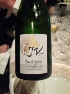 We started with a bottle of J. Vignier 'Aux Origines' Blanc de Blancs champagne - a sparkling complex and traditional champagne produced in the Champagne region of France. It was a wonderful start to our Chef's Tasting Dinner.
