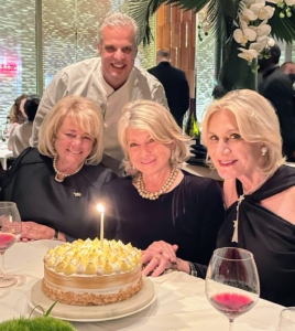 Chef Eric Ripert came out with my birthday cake that he made especially for me. Here I am with Chef Eric, Jane and Susan.