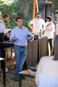 Here, Jack stops to talk to guests and answer questions. (Photo by Mike Falco for Stone Barns Center for Food & Agriculture)