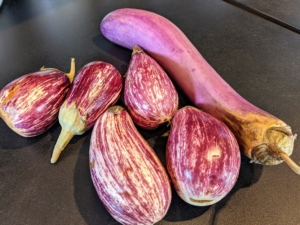 We are also using eggplants from my garden. I love when we can use produce that is freshly picked right here at my Bedford, New York farm.